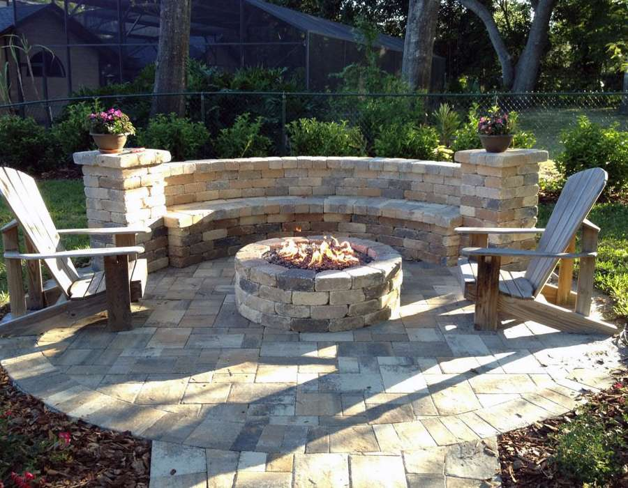 custom backyard fire pit